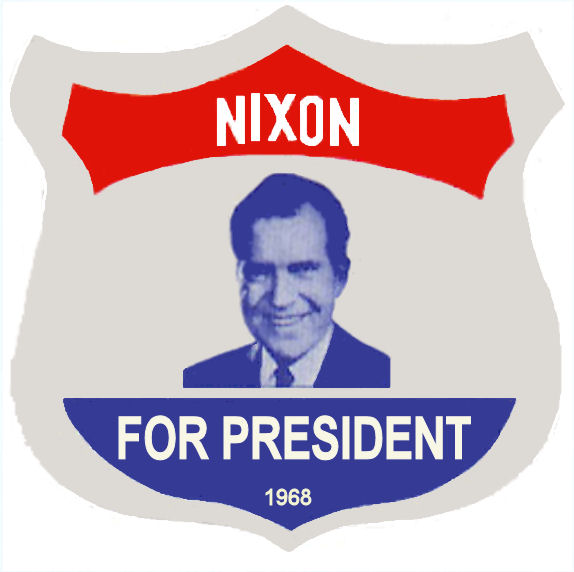1968 Nixon Presidential Sticker