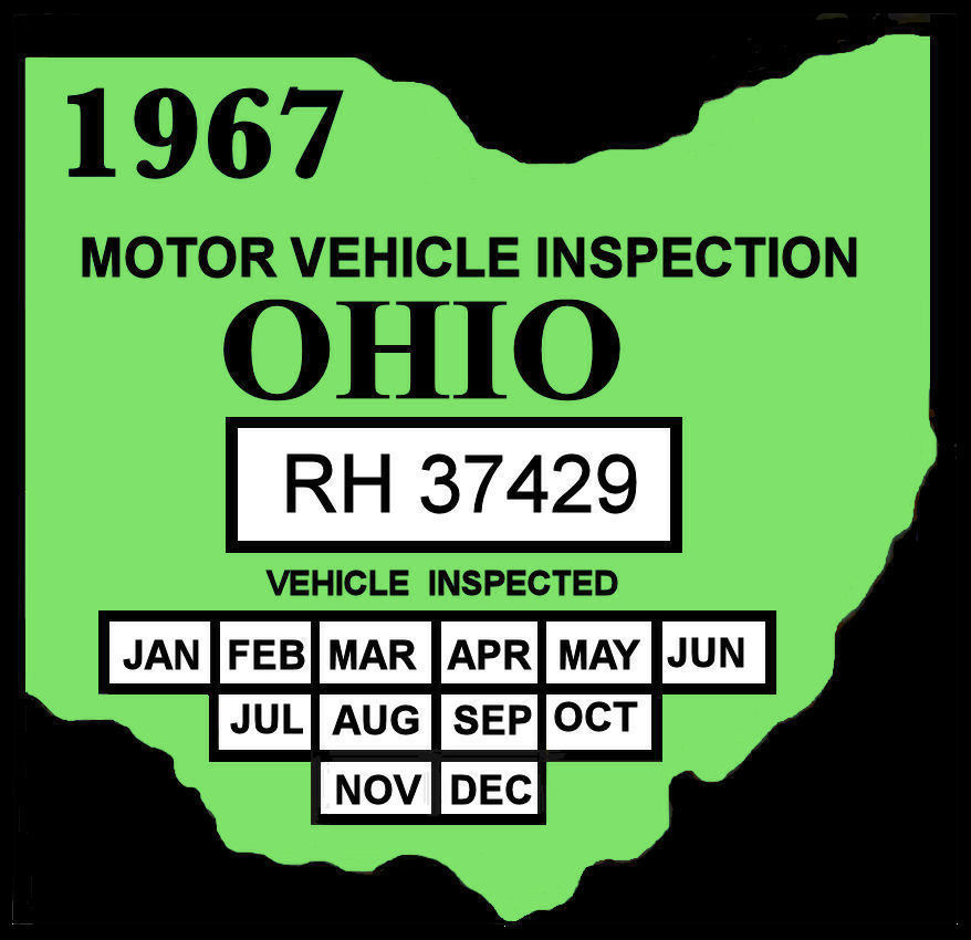 1967 Ohio Inspection Sticker