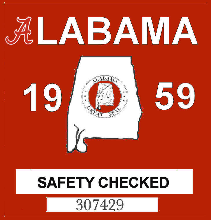 1959 Alabama Safety Checked
