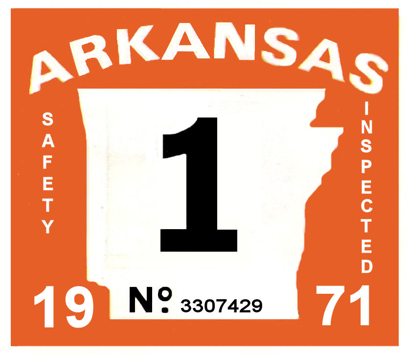 1971 Arkansas Inspection Sticker