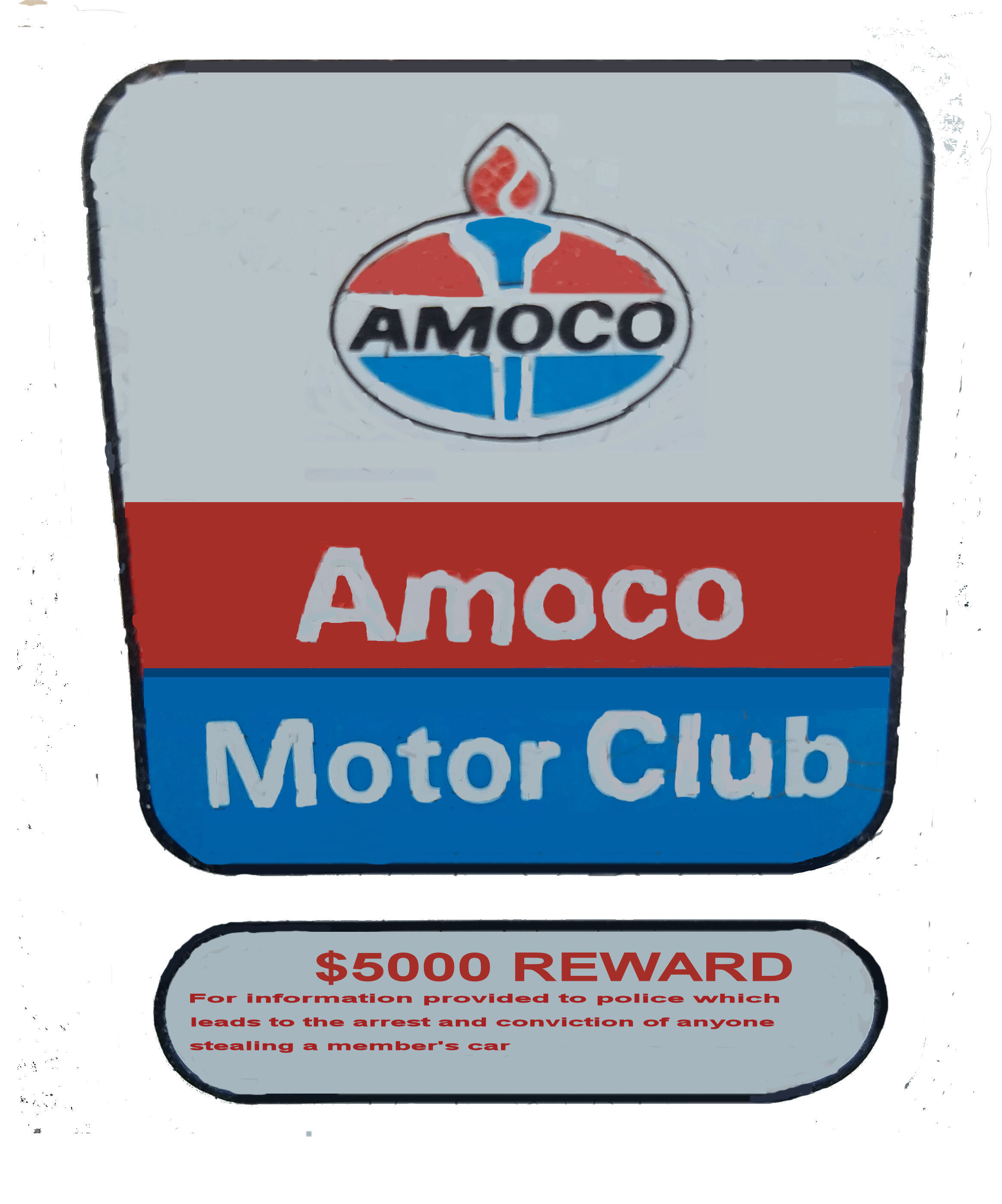 AMOCO Door Sticker 1950's
