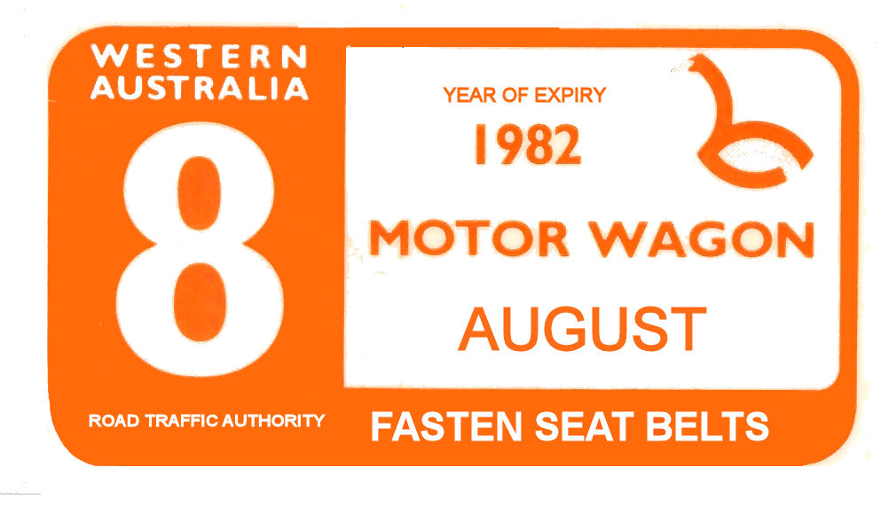 Australia 1981-82 WA Inspection Sticker