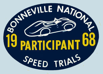 Bonneville Speed Trials 1968 PARTICIPANT