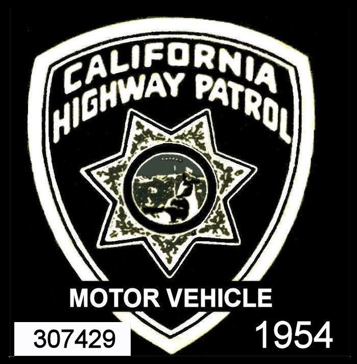 1954 California safety inspection sticker