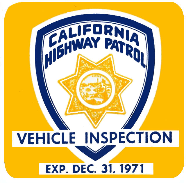 1971-12 California Inspection Sticker