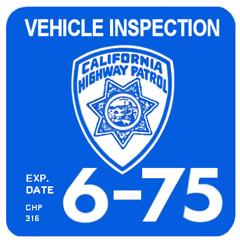 1975-06 California Inspection Sticker