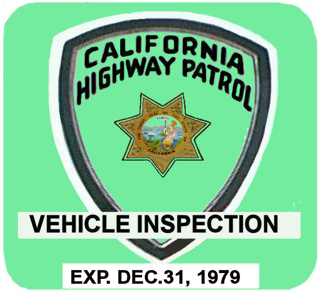 1979 California inspection sticker