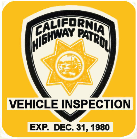 1980 California inspection sticker