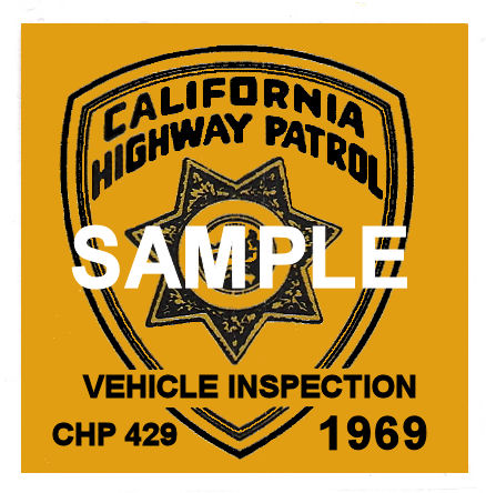 1969 California Inspection Sticker