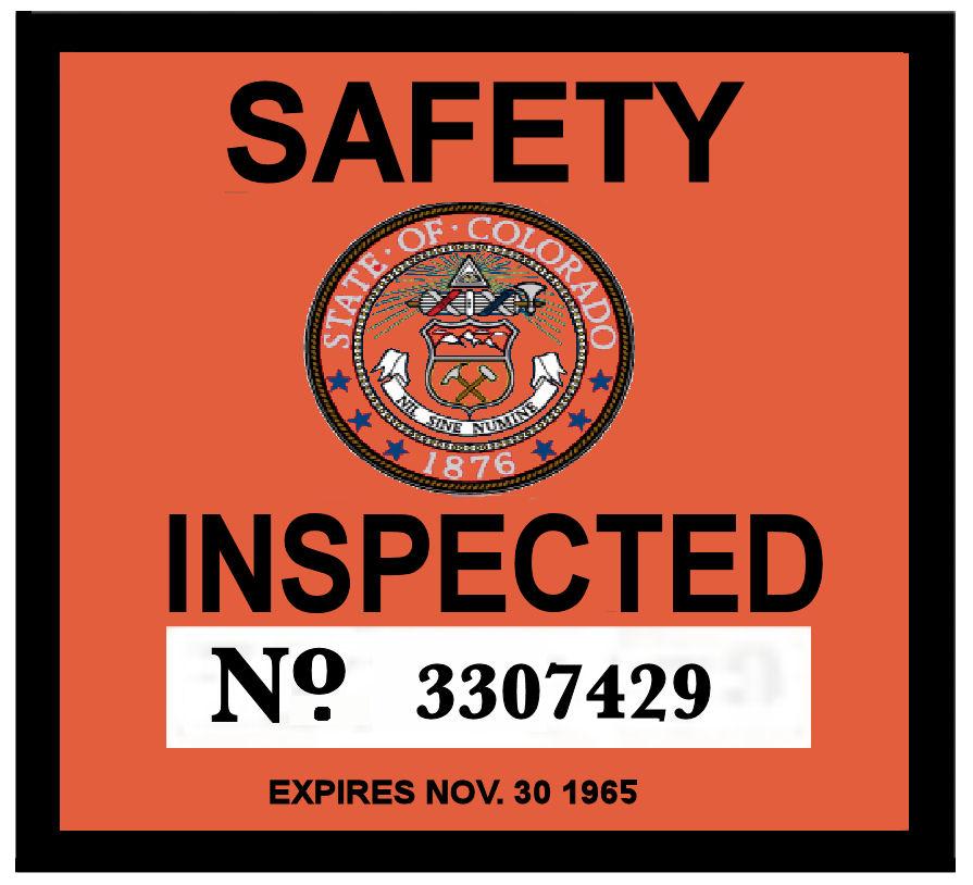 1963 Colorado Inspection Sticker