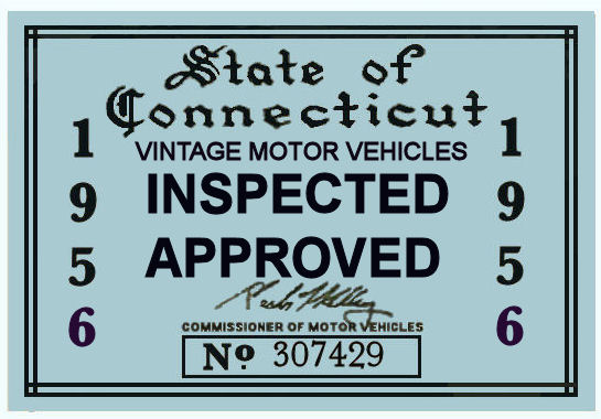 1956 Connecticut Inspection Sticker