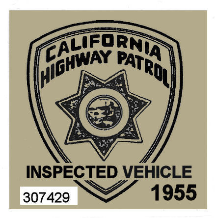 1955 California Inspection Sticker