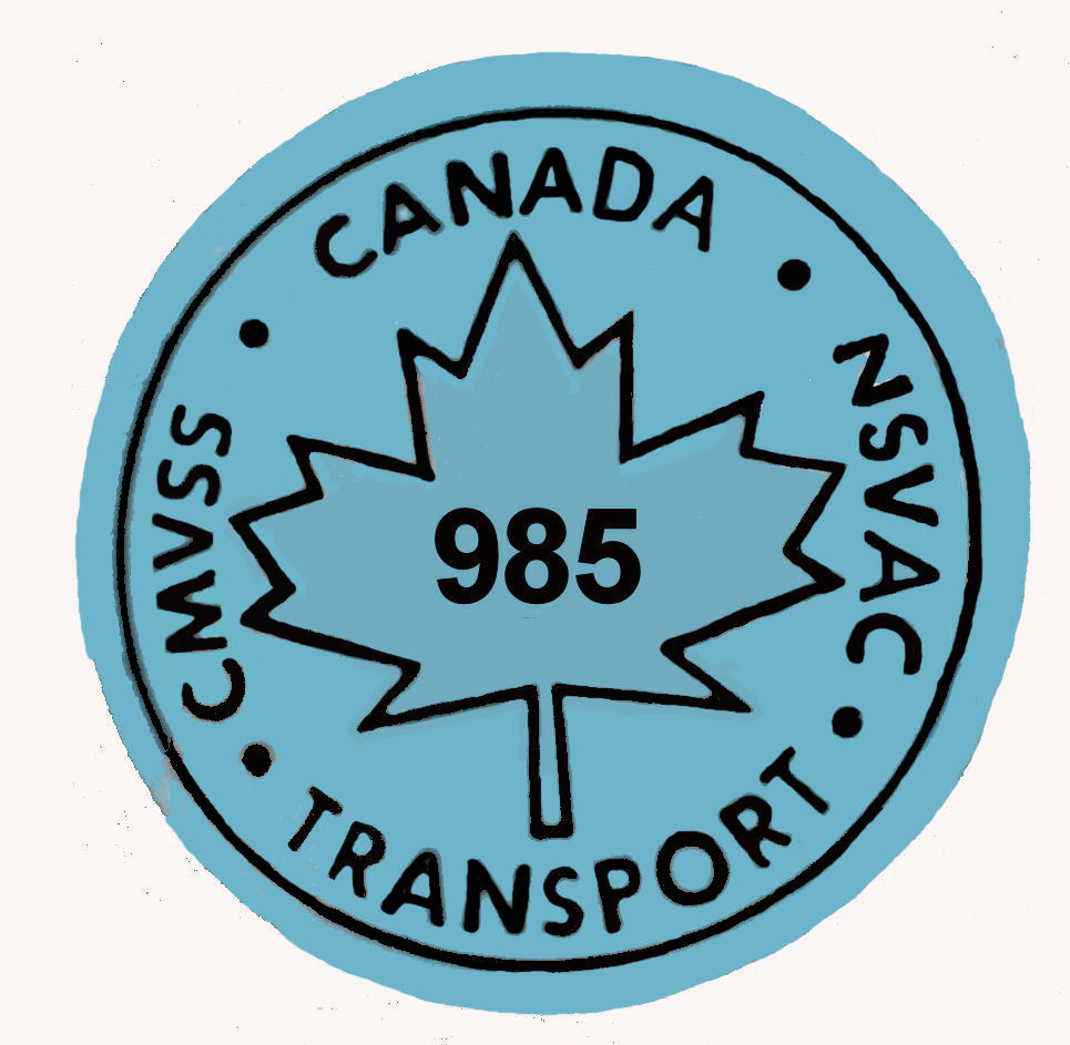 1977-87 Canada 985 Transport Sticker