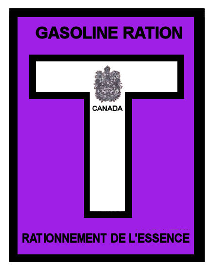 1945-46T Gas Ration Sticker CANADA