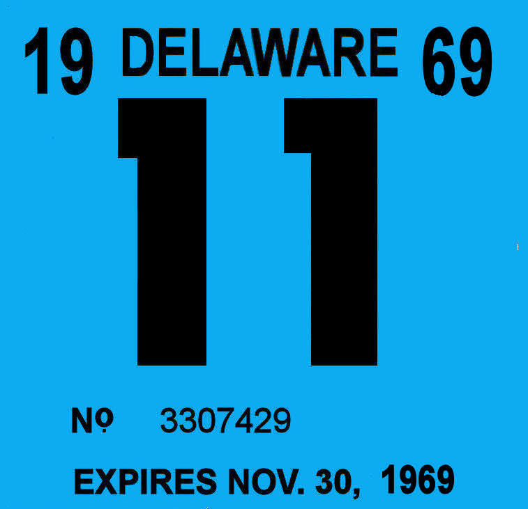 1969 Delaware Inspection sticker