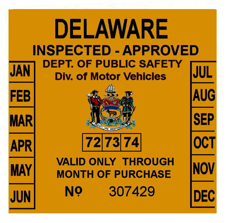 Inspected by stickers kamos sticker for Nj motor vehicle inspection hours