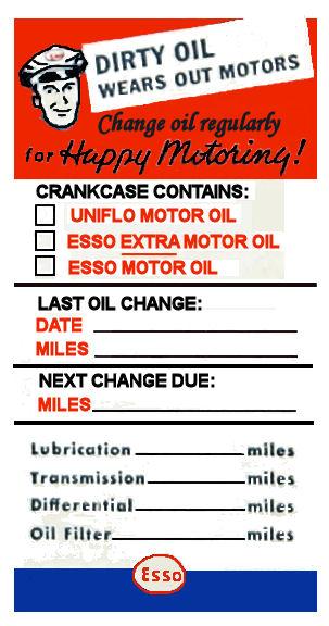 ESSO Service Door Sticker 1950s