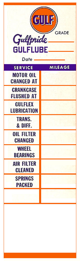 GULF Service Door Sticker EARLY