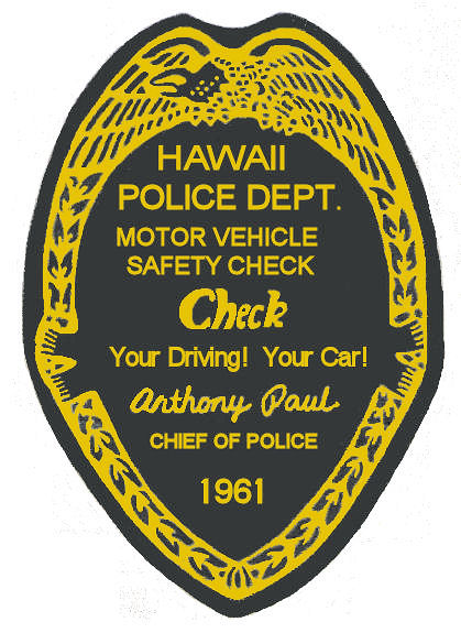 1961 Hawaii Inspection sticker