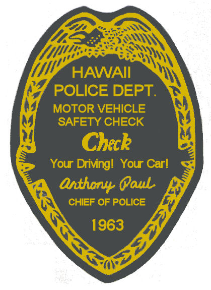 1963 Hawaii Inspection Sticker