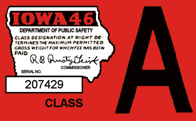 1946 Iowa Tax/Inspection sticker