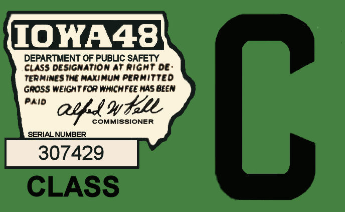 1948 Iowa Registration Sticker