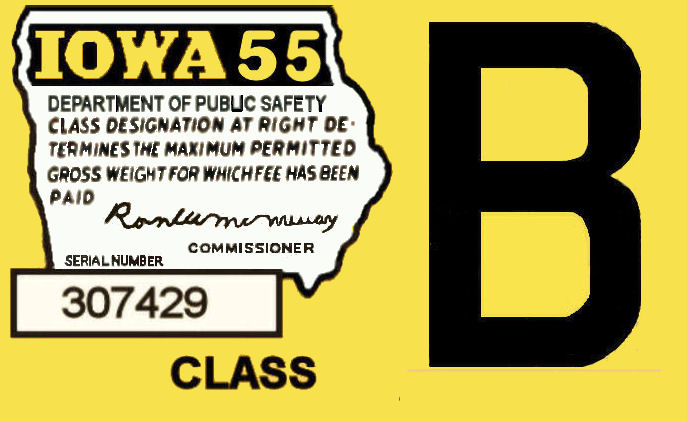 1955 Iowa Tax Registration Sticker