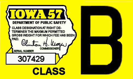 1957 IA Tax Registration sticker