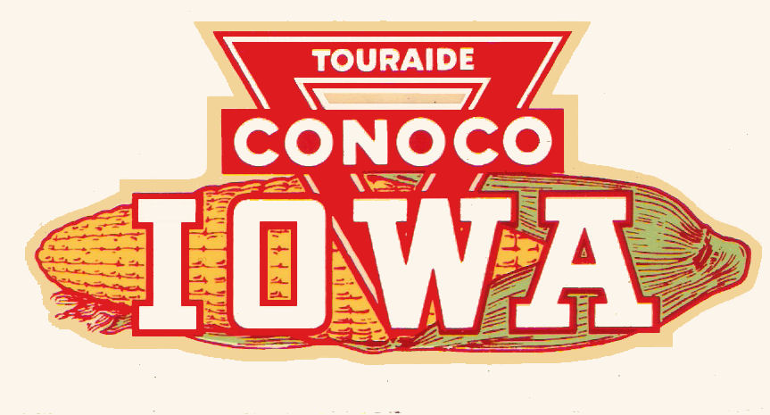 1950s IOWA CONOCO sticker