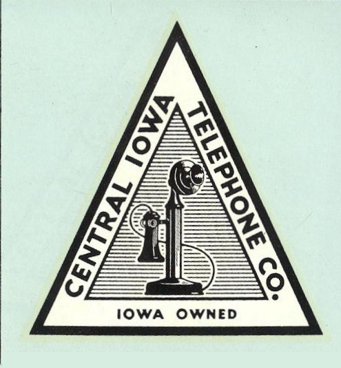 1940s IOWA telephone company sticker