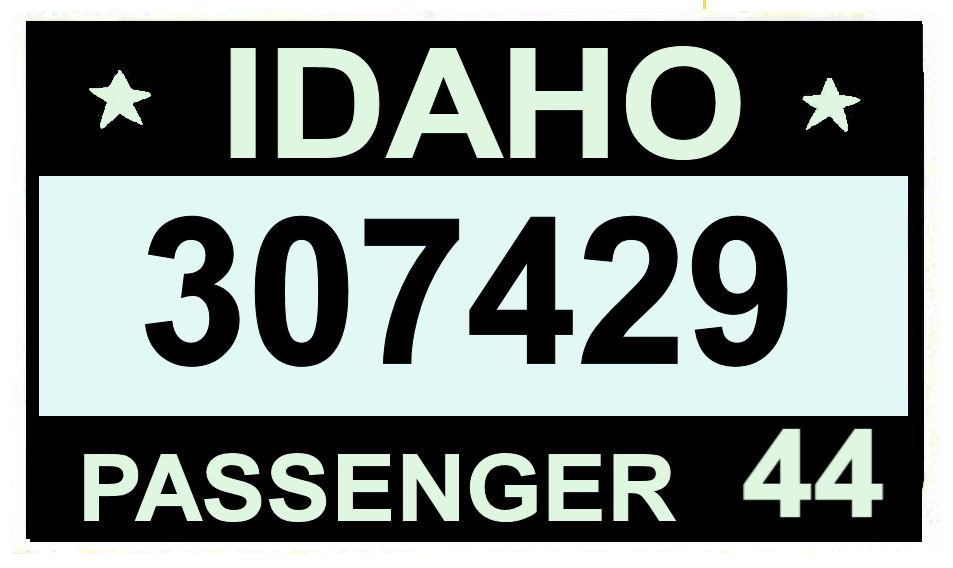 1944 Idaho Registration Sticker