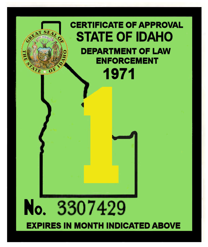 1970-71 Idaho INSPECTION sticker