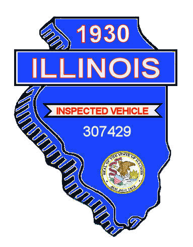 1930 Illinois Safety Check Inspection Sticker