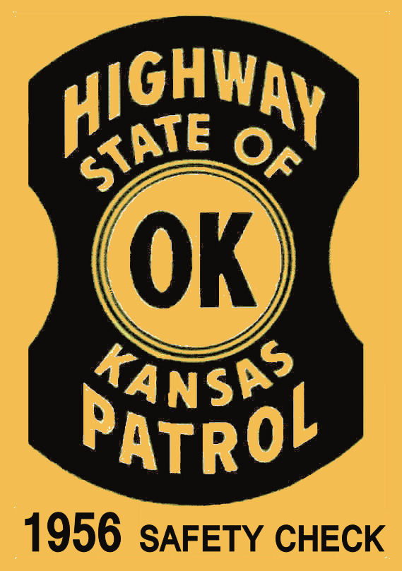 1956 Kansas inspection sticker