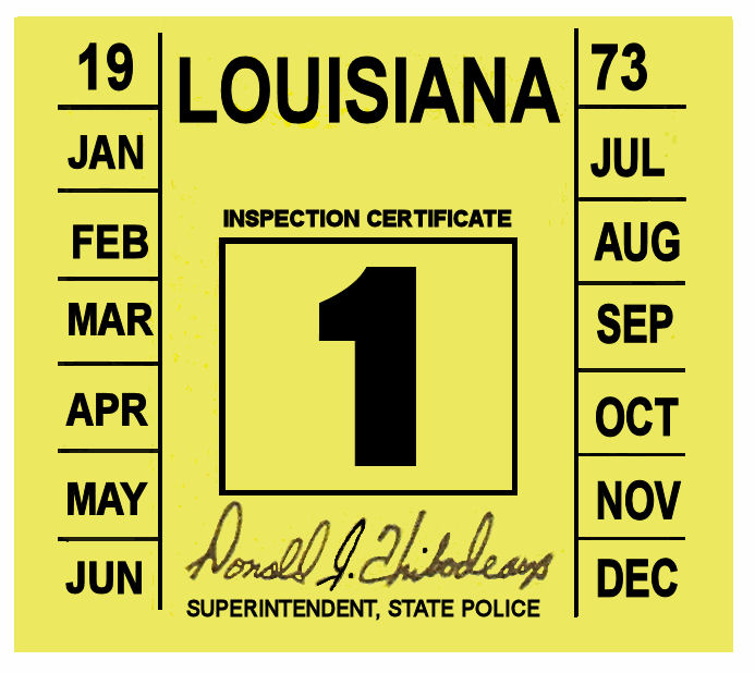 1973 Louisiana Inspection Sticker