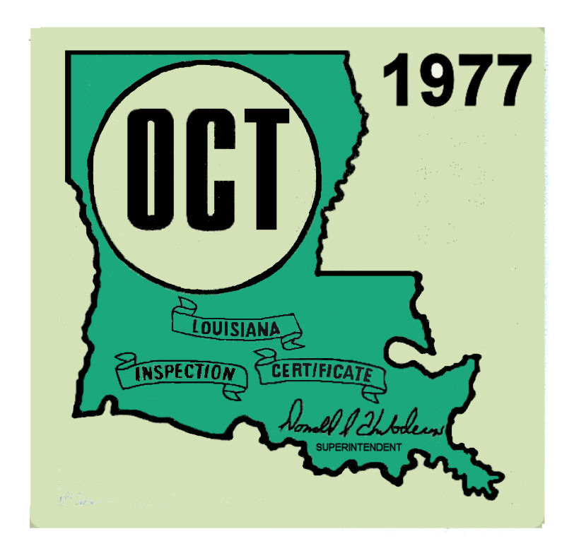 1977 Louisiana Inspection sticker