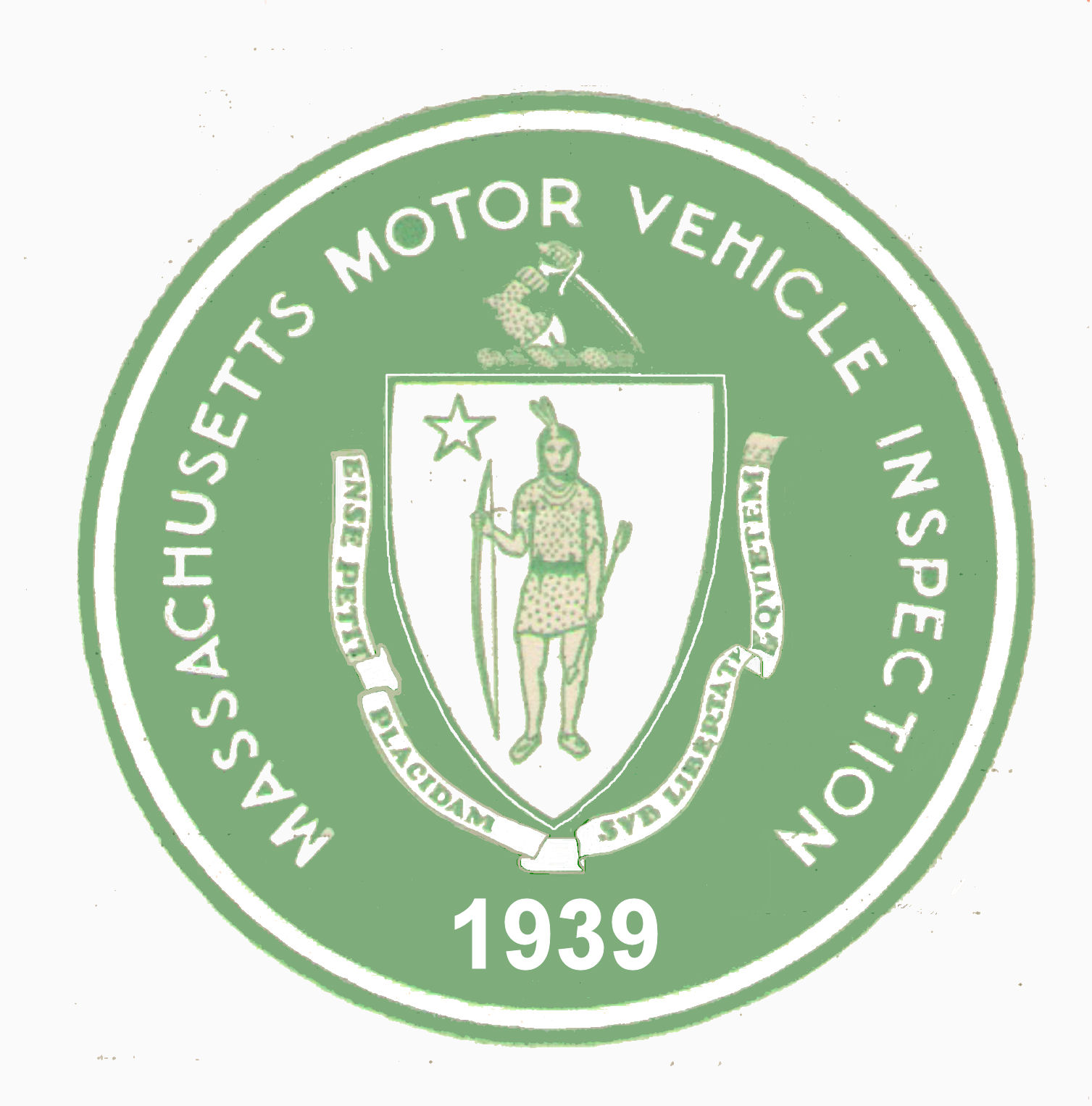 1939 Massachusetts Spring INSPECTION Sticker