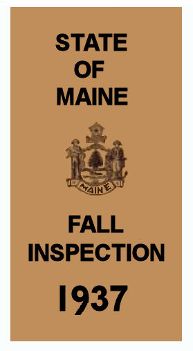 1937 Maine FALL INSPECTION sticker