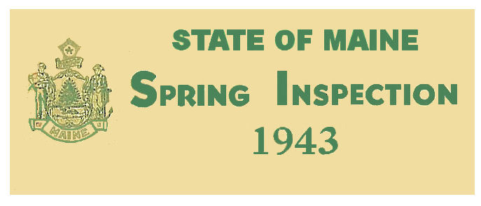 1943 Maine Spring Inspection Sticker