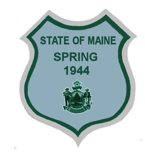 1944 Maine SPRING Inspection Sticker