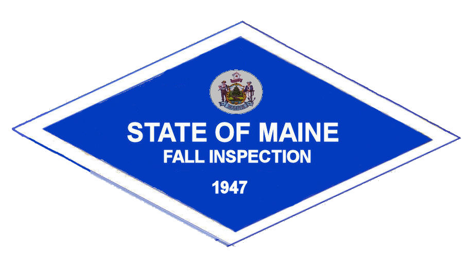 1947 Maine FALL INSPECTION sticker