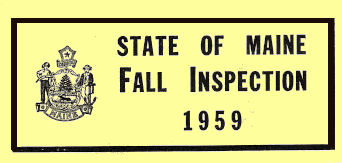 1959 Maine Fall inspection