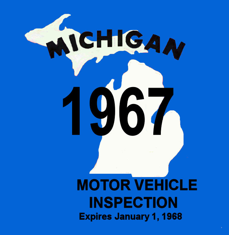 1967 Michigan INSPECTION sticker