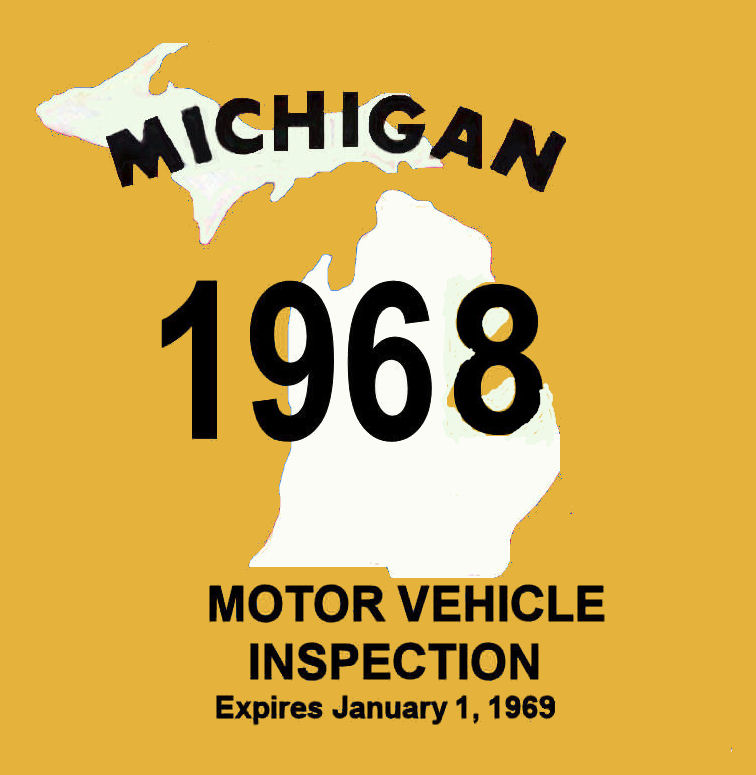 1968 Michigan Inspection sticker