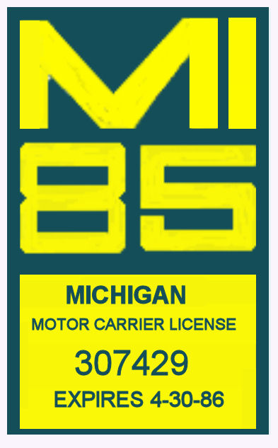 1985 Michigan Registration Inspection Sticker