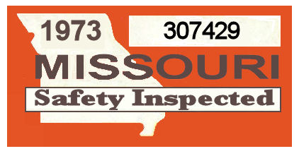 1973 Missouri Inspection Sticker