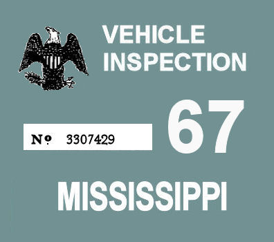 1967 Mississippi inspection sticker
