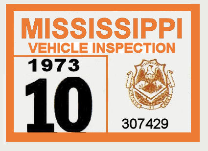 1973 Mississippi Inspection Sticker