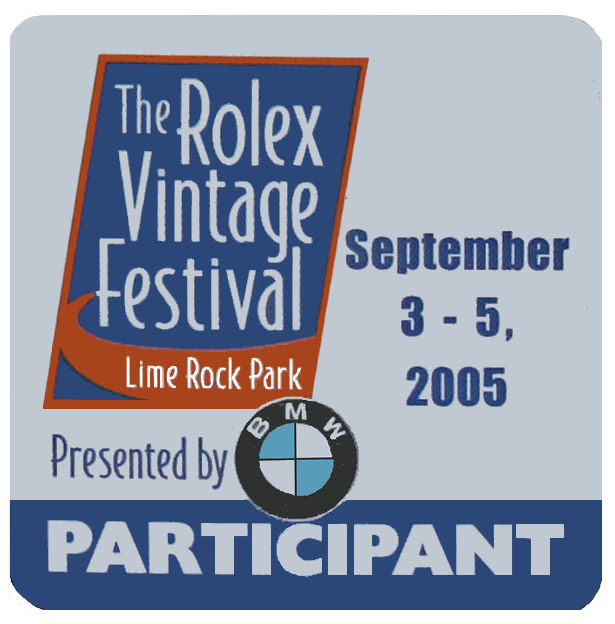 Lime Rock CT Rolex Vintage Festival Sticker 2005