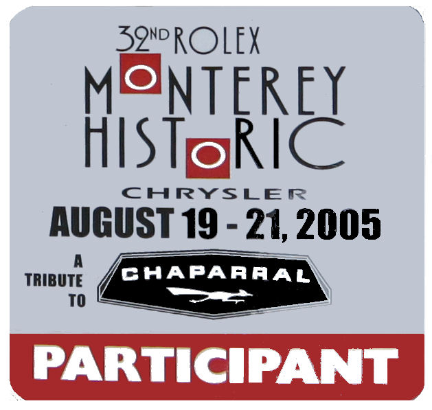 Monterey 2005 32nd Rolex Historic Chrysler Sticker
